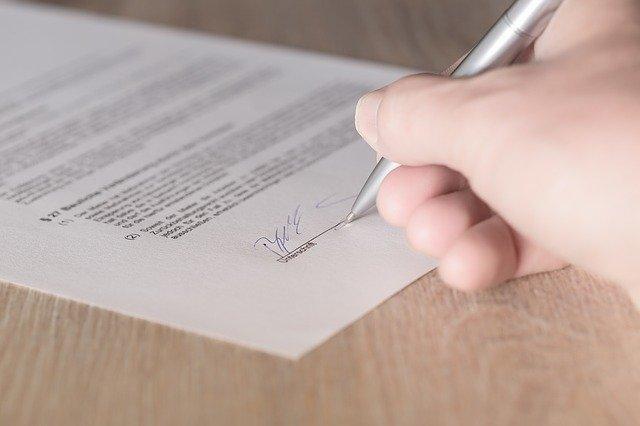 dokument k podepsání