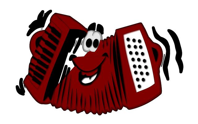 akordeon ilustrace