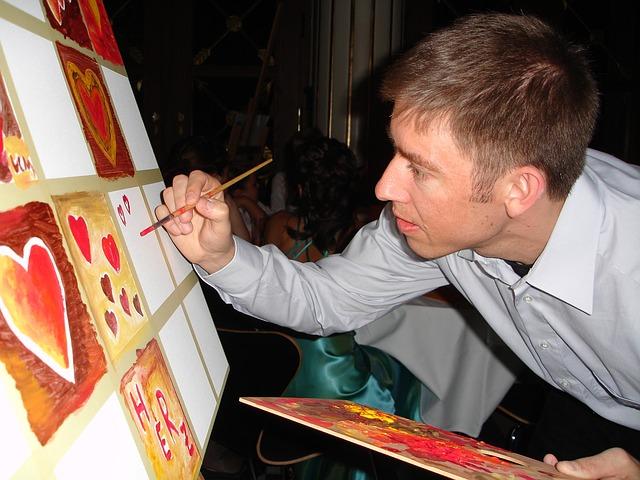malování srdíček