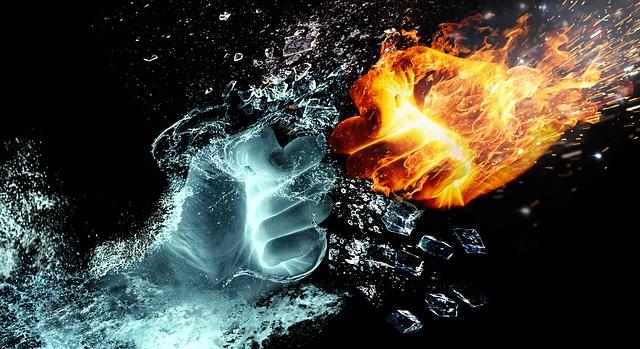 oheň a voda boj