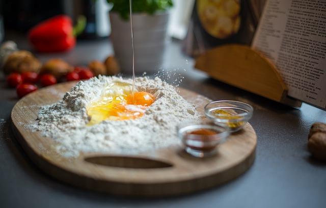vejce a mouka