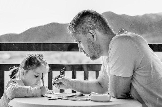 Otec a děvče